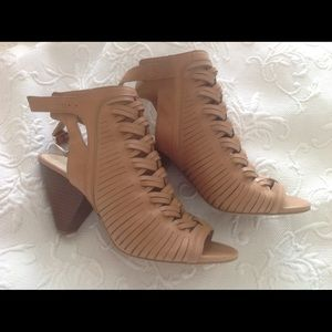 Shoes - Vince Camuto braided leather bootie